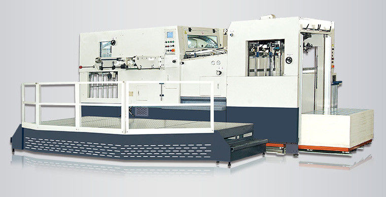 Automatic Die-Cutting and Creasing Machine with Stripping Station  (top feeding)